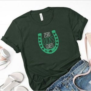 Zero Lucks Given St. Patricks Day Graphic Tee